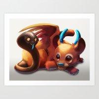 Baby Chimera Art Print