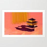 Art Print featuring Kinkaku-ji - Temple Of T… by Oliver Sin
