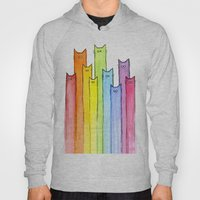 Cat Rainbow Watercolor P… Hoody