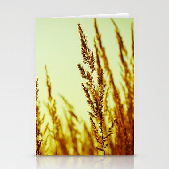 whispering grasses I Stationery Card