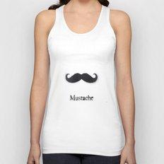Mustache Unisex Tank Top