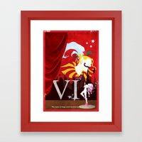 Vintage FF Poster VI Framed Art Print
