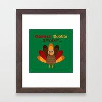 Gobble Me Up! (Square) Framed Art Print