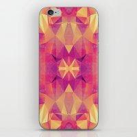 RETRO PINK GEOMETRY iPhone & iPod Skin
