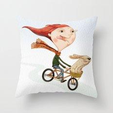 Bicicleta Throw Pillow