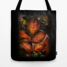 Golden Fall Sunset Leaves Tote Bag