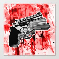 Triple Revolver (right) Canvas Print