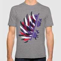 Colorful Abstract Hedgehog Mens Fitted Tee Tri-Grey SMALL
