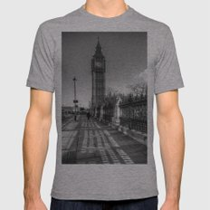 Big Ben, London Mens Fitted Tee Athletic Grey SMALL