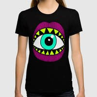 Eye'm Gonna Eat You Womens Fitted Tee Black SMALL