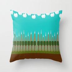 Leafgroove Mountains Throw Pillow