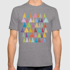 Analogous Shapes In Bloom. Mens Fitted Tee Tri-Grey SMALL