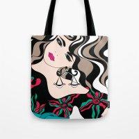Libra lady | Horoscope sign | Zodiac art  Tote Bag