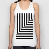 Black And White L Stripe… Unisex Tank Top