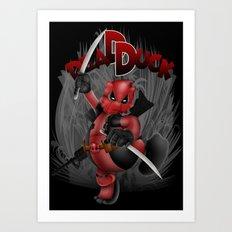 The Dead duck Red Black ninja iPhone 4 4s 5 5c 6, ipod, ipad, pillow case Art Print
