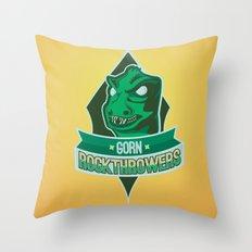 Gorn Rockthrowers Throw Pillow