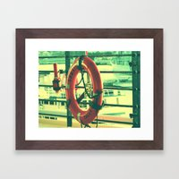 I'd rather drown (my troubles) Framed Art Print