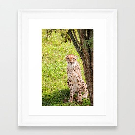 Hey Kitty Framed Art Print