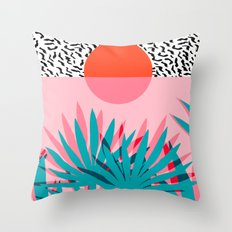 Whoa - Palm Sunrise Sout… Throw Pillow