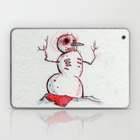 Snowman Zombie of the winter apocalypse Laptop & iPad Skin