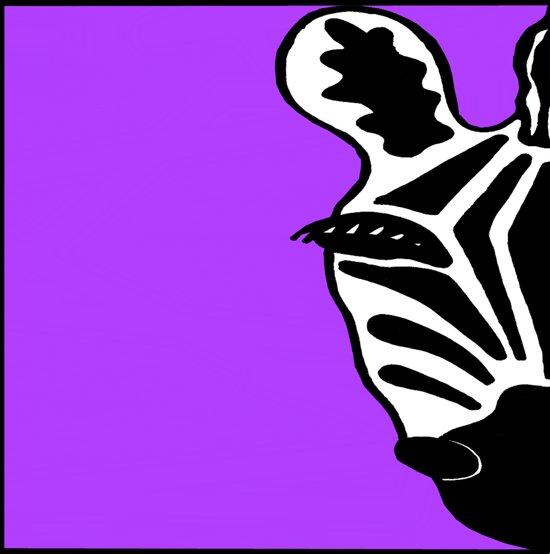 Zebra Purple Art Print
