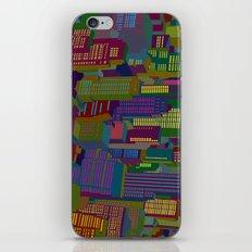Cityscape night iPhone & iPod Skin