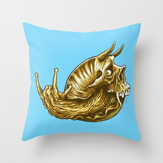 rock & snail  Throw Pillow