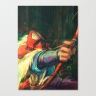 The Young Man From The E… Canvas Print