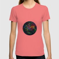 Flower Of Life In The Un… Womens Fitted Tee Pomegranate SMALL