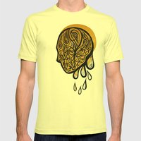 Drops Fall Mens Fitted Tee Lemon SMALL