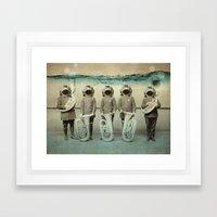 the diving bell Tuba quintet Framed Art Print