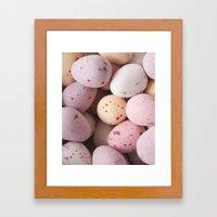 Mini Easter Eggs Delight… Framed Art Print