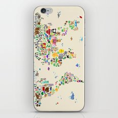 Animal Map of the World iPhone & iPod Skin