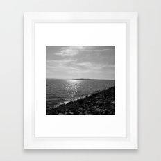 Pretty Day At The Lake Framed Art Print