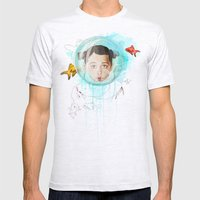 Fish Girl Mens Fitted Tee Ash Grey SMALL