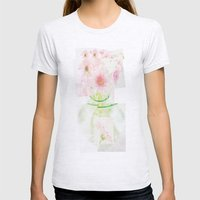Collage Love - Inspired by David Hockney - Pink Gerberas  Womens Fitted Tee Ash Grey SMALL