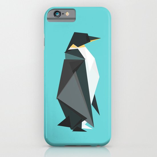 Fractal geometric emperor penguin iPhone & iPod Case