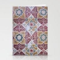 Geometric Wall Pattern Stationery Cards