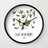 PLANTS ARE MY FRIENDS Wall Clock