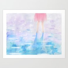 Pink and Blue Season Art Print