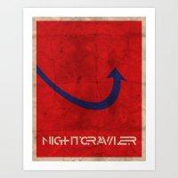 Minimalist Nightcrawler Art Print