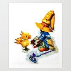 Vivi And The Chocobo Fin… Art Print