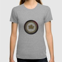 Leaf Space Womens Fitted Tee Athletic Grey SMALL