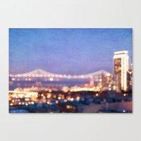 BAY BRIDGE GLOW Canvas Print