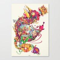 coq Canvas Print