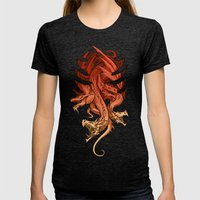 Dragons Womens Fitted Tee Tri-Black SMALL