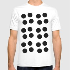 Copijn Black & White Dots SMALL White Mens Fitted Tee