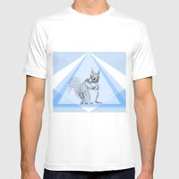 Squirrel stealing nuts Mens Fitted Tee White SMALL