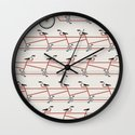 Stretched Out Tandem Wall Clock