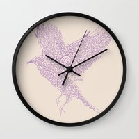 Flight In Swirls Wall Clock